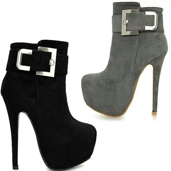 Black and Grey Booties