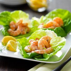 Shrimp Salad Lettuce Cups #recipe - ready in 25 minutes #lactosefree