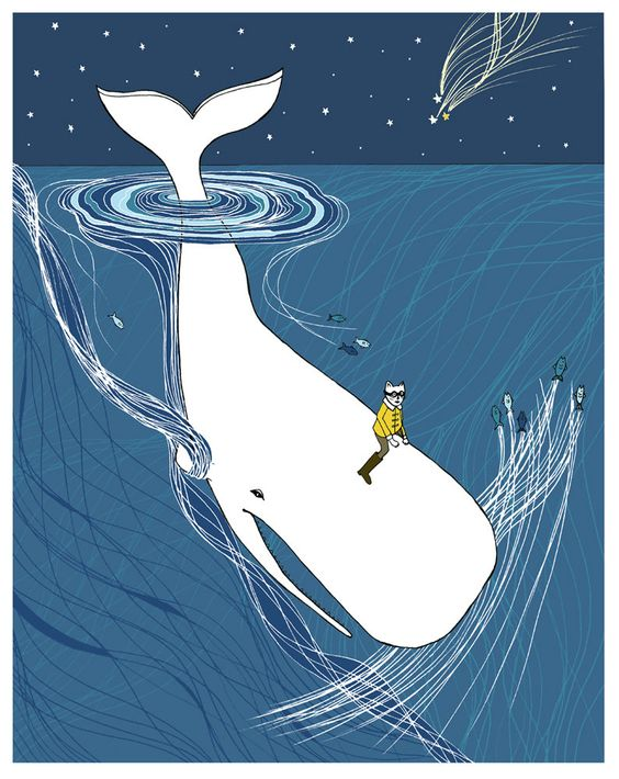 Nursery prints whale : Whale rider nursery art. whimsical drawing for your childs room ...