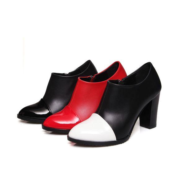 Cute Womens Ladies High Heels Shoes Zip Antiskid Pointed Pumps Us Size Bd4382