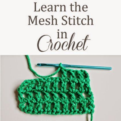 Crochet For Children: Learn to Crochet the Mesh Stitch