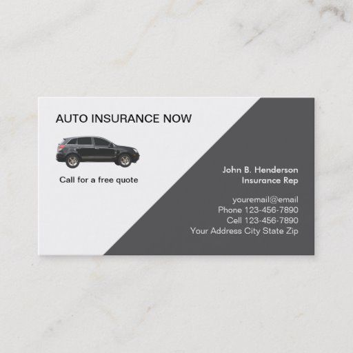 Auto Insurance Business Cards Zazzle Com Business Insurance Car Insurance Insurance