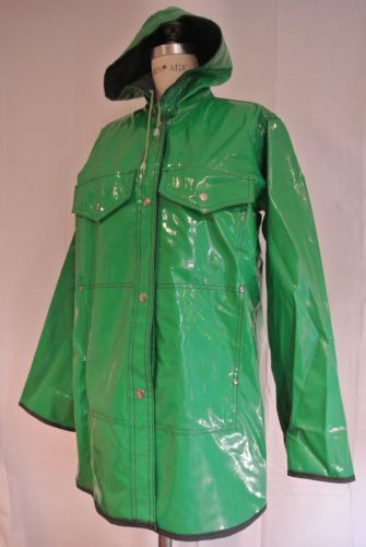 Vintage 80s Green Raincoat Unicorn jacket slicker | Unicorns ...
