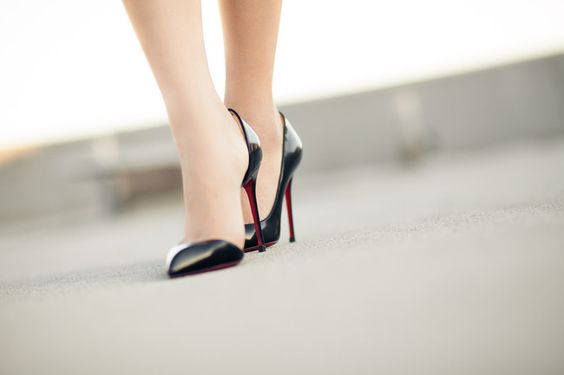 Great pair of shoes.  Look at the red color of the inside of the heel
