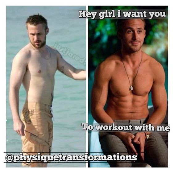 Hey girl--I want you to work out with me. The power of transformation. And a good tan.