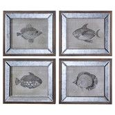 Found it at Wayfair - Mirrored Fish by Steve Kowalski 4 Piece Framed Painting Print Set