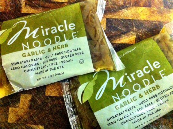 Miracle Noodle Garlic & Herb available at www.miraclenoodle.com