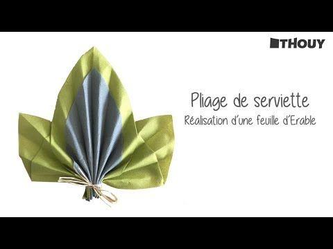 Youtube Pliage Serviette Feuille D Erable Pliage Serviette Feuille