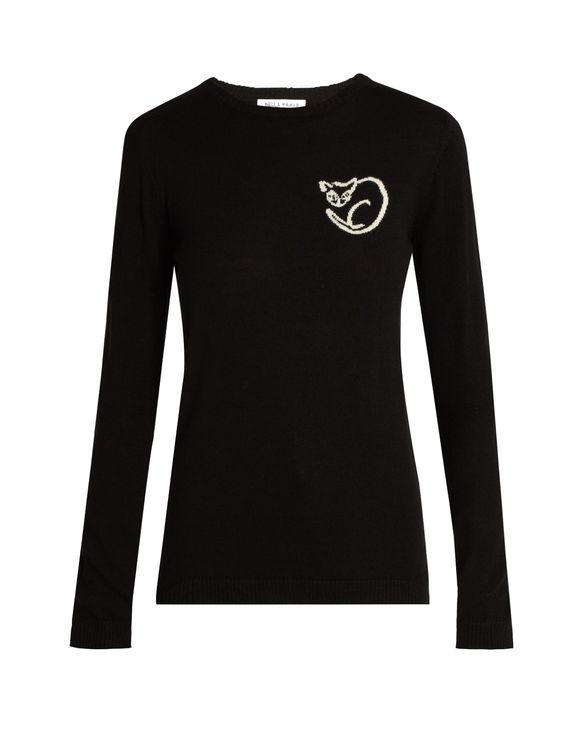 El Vera cat intarsia-knit wool sweater | Bella Freud | MATCHESFASHION.COM US