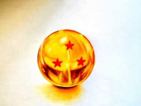 Esfera Do Dragao Realista Em 3d Dragon Ball Speed Drawing Candle Holders Anime