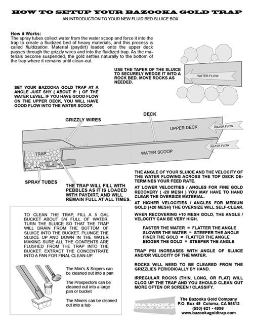 7bbd878e33d2a2b821b49988a7dc2b22 gold prospecting gull bazooka gold trap instructions prospecting pinterest gold bazooka tube wiring diagram at suagrazia.org