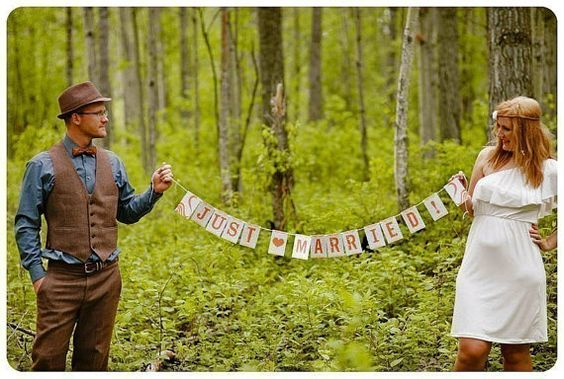Personalized Just Married Sunshine Paper Garland Party by Earmark, $ 16.00
