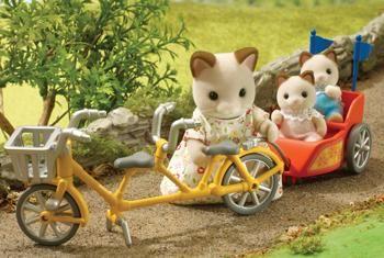 Sylvanian Families Tandem Bike & Baby Trailer