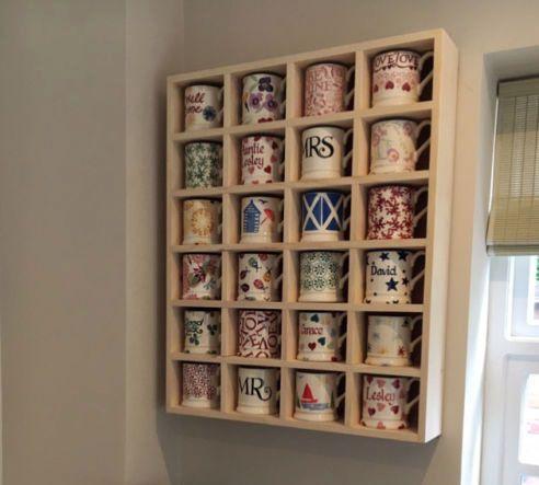 Mug Storage Shelf 24 Compartments Mug Storage Emma Bridgewater Mug Display