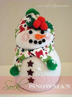 Sock snowman how to craft snowman sock holiday crafts decor diy and