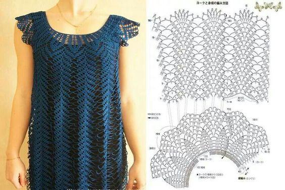 #crochet #shirt #diagram