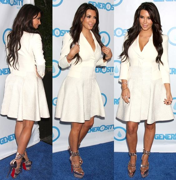Kim Kardashian at the 4th Annual Night of Generosity Gala at the Hollywood Roosevelt Hotel in Los Angeles on May 4, 2012