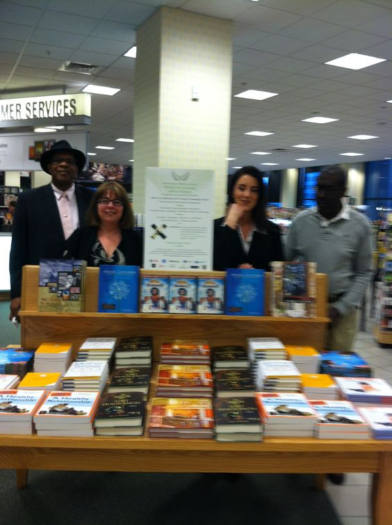 Our wonderful friends that are top authors all pitched in and sold their books (for the charity) at the Barnes and Nobles around our Saks Fifth Avenue event- one of our generous author's Gina Otto, the store manager and a pretty happy client at the kids event held the night before  for the kids at the store!