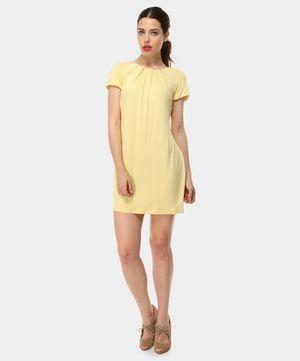 SANDRO FERRONE // Abito giallo con plissettatura frontale // oggi su www.privalia.com
