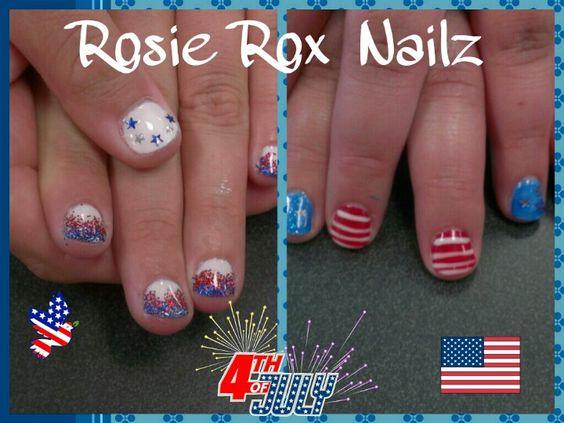 Fourth of July gel Nailz