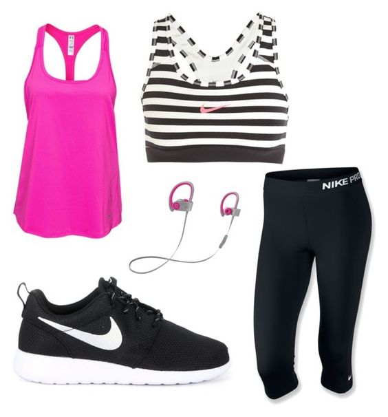 """Workout"" by braileyrene on Polyvore featuring NIKE, Under Armour and Beats by Dr. Dre"