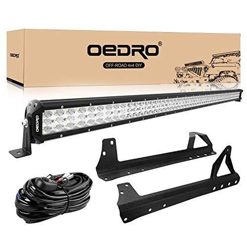 Led Light Bar Tri Row 52 Inch 758w Oedro Combo Off Road Lights Driving Fog Light Work Lamp Upper Roof Windshield Mounting Br Led Light Bars Work Lamp Jeep Jk