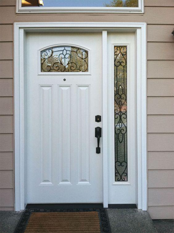River Doors Feather River Door Bellante Wrought Iron: Feather River Door's Torino Exterior Door With Sidelite