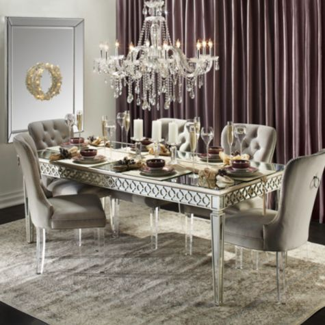 Mirrored Dining Table Sophie Collection Z Gallerie Luxury