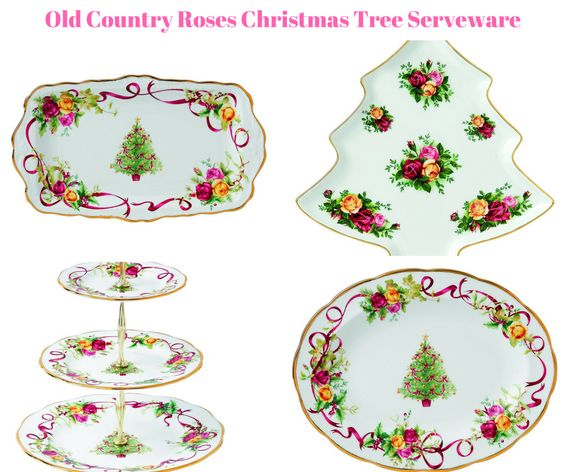 Old Country Roses Christmas Tree Serveware
