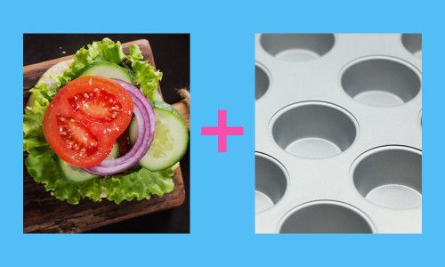 Burger toppings kept in muffin tins:   11 Things You Absolutely Need At Your BBQ This Summer