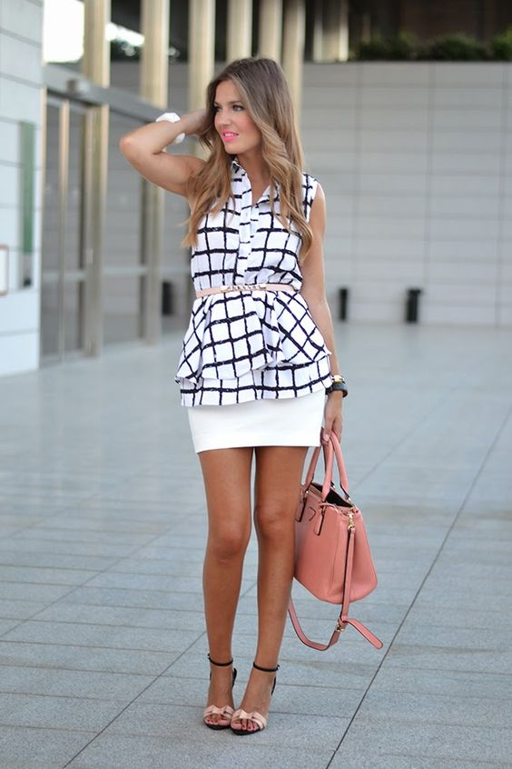Mi aventura con la moda: BLACK & WHITE PLAID RUFFLE BLOUSE