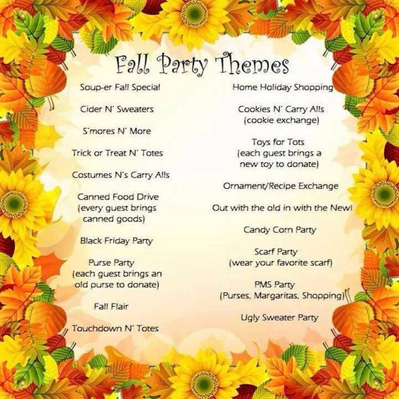 Fall Theme Party Ideas to make your Thirty-One party a blast!