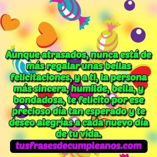 Frases Bonitas De Cumpleaños Para Una Tia Imagen Para Fb De Un Saludo Tarjetas Postales De Cumpleaños Mensaje De Feliz Cumpleaños Frases De Cumpleaños Bonitas