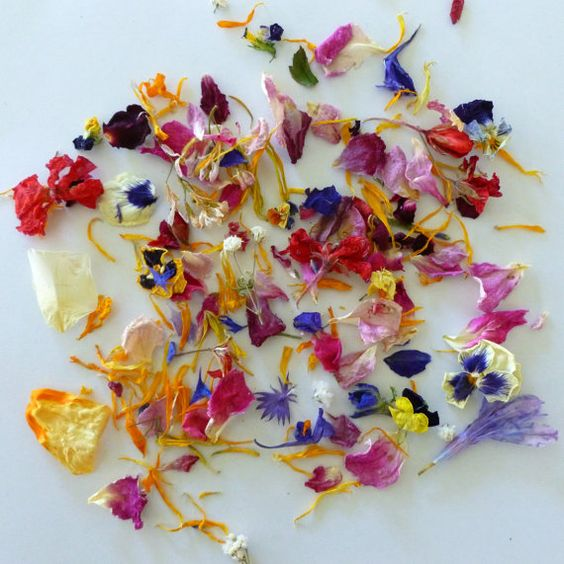 Wedding Flower petals Dried Flower Confetti by LarkspurHill, $6.00