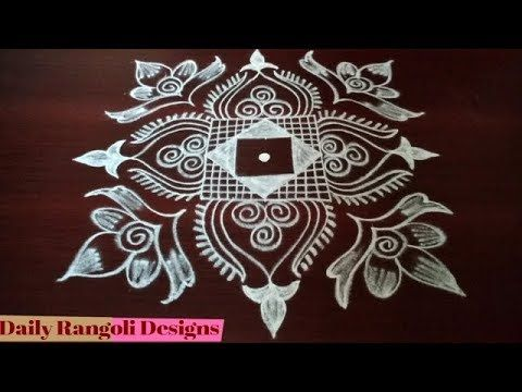 New Year 2018 Rangoli Designs With Dots New Year Kolam Designs With Fl Rangoli Designs With Dots Kolam Designs Rangoli Designs