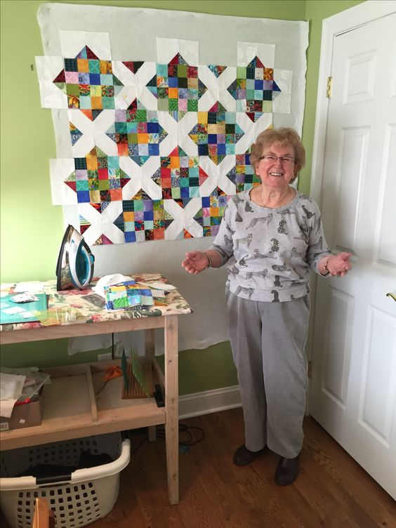 This is actually my Mom's quilt for Janet.  Turned out beautiful.