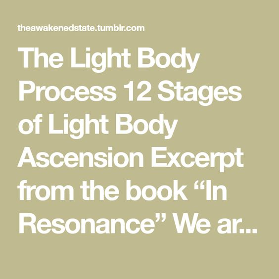 The Light Body Process Body