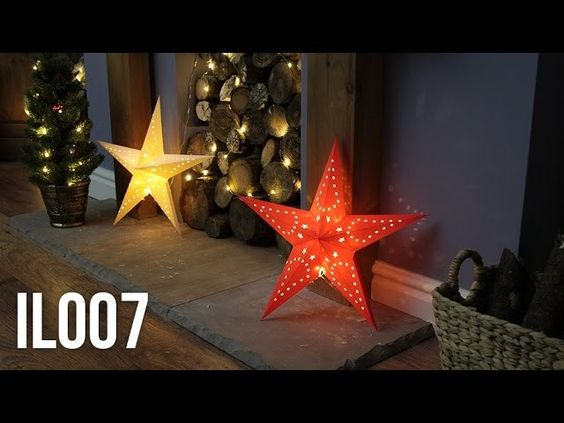 Paper Hanging 3D Star Christmas Decoration - IL007
