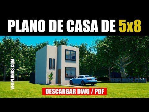 Planos De Casa 2 Habitaciones 2 Pisos Dwg Pdf Gratis Youtube Planos De Casas Casas De Dos Pisos Diseno Casas Pequenas