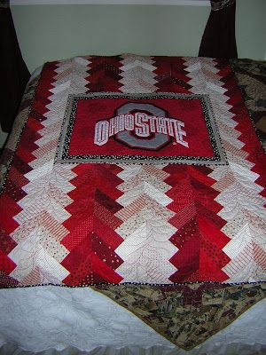 Braided Quilt - Could EASILY become an OU quilt!!!