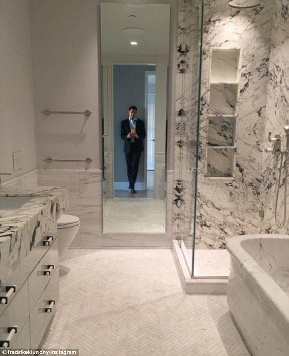 Welcome home:Fredrik Eklund revealed the first glimpse of his and husband Derek Kaplan's ...