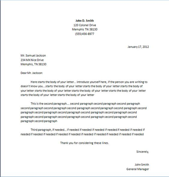 Business Letter Format Business Letter And Formal