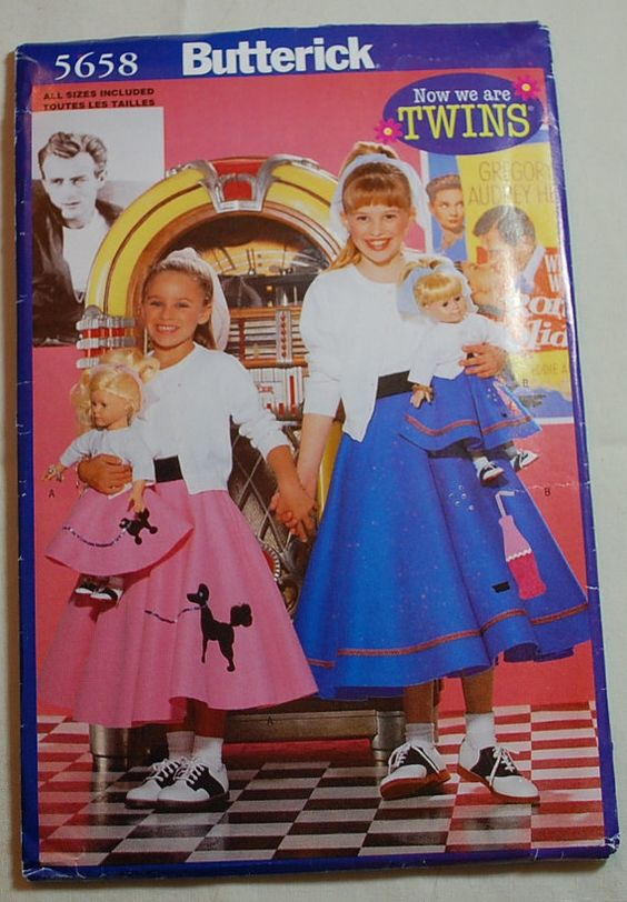 Free Shipping USA Simplicity 7878 Girls Poodle By BUTTERCUPGARDEN 300