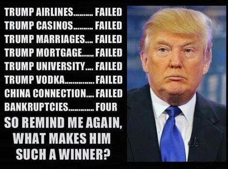 Donald Trump, successful businessman