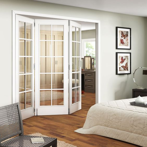 Smart Decorating For Your Small Bedroom Decorated Life French Doors Interior Interior Sliding French Doors Doors Interior