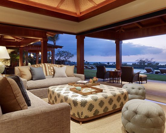 Tropical Family Room Design, Pictures, Remodel, Decor and Ideas - page 2