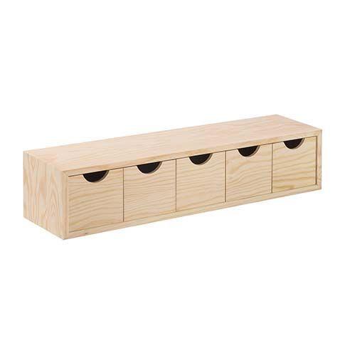 Buck De Cajones De Pino Macizo Cajoneras Montadas Cajoneras Ordenar Y Guardar Productos Desk Organizer Set Desk Organization Floating Desk