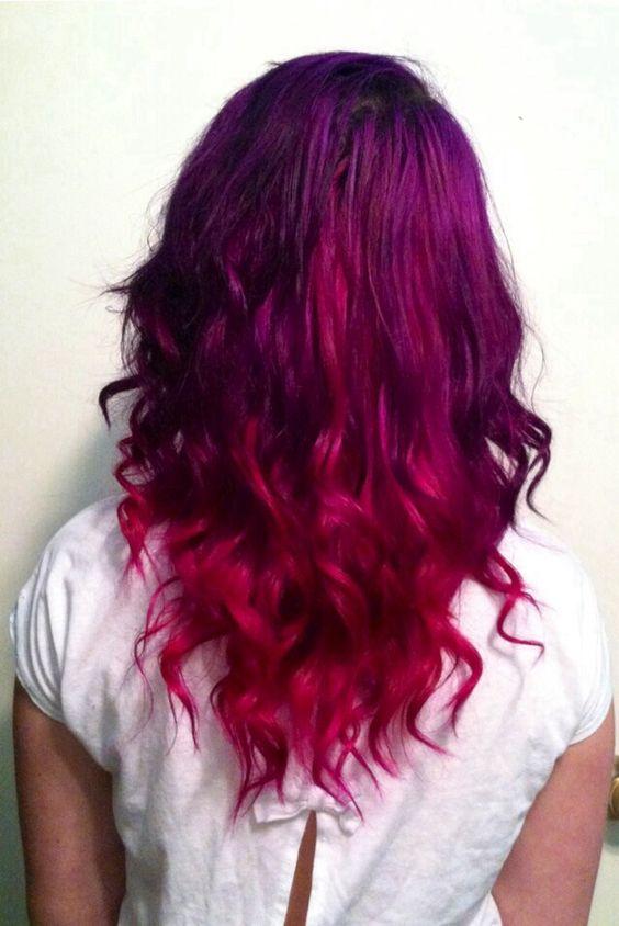 Purple maroon ombr hair pinterest purple - Ombre hair marron ...