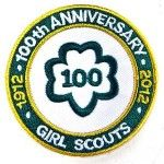 100 years of Girl Scouts - this is the badge I got for the girls and myself at the Great Girl Gathering at MOA.