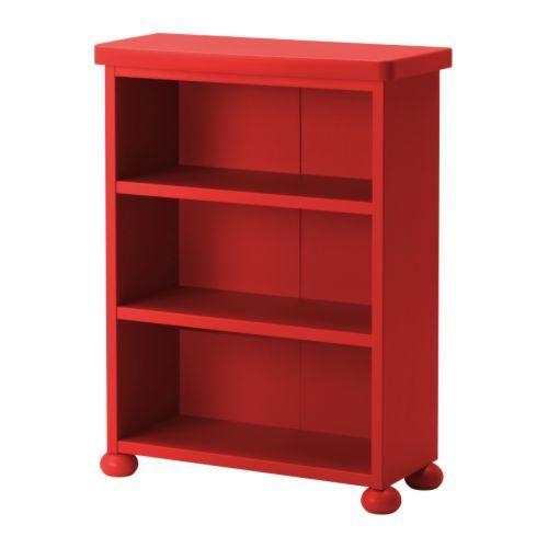 Po ng footstool black brown isunda gray car bed toys for Ikea childrens bookshelf